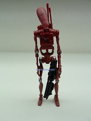 Star Wars Saga Attack of the Clones Battle Droid Arena Maroon #1 Action figure