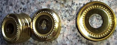 """Brass lamp part Cap Check Ring style Brass Cover 1 1/8"""""""