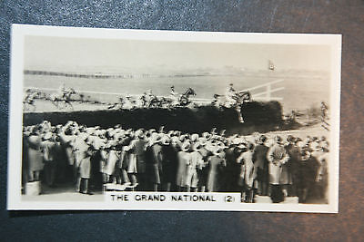 The Grand National  Steeplechase Action Photocard 1930's Vintage Card  VGC / EXC