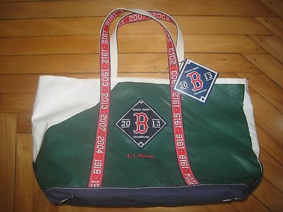 Red Sox L.L.Bean Limited Edition Boat Tote Bag 2013 World Series GREEN RARE!