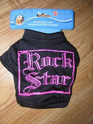 NEW ROCK STAR DOG PRINTED KNIT SHIRT SIZE EXTRA SMALL