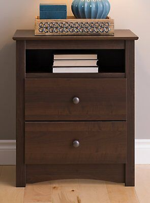 """Prepac Fremont 2 Drawer Tall with Open Cubbie EDC-2428 , 28"""" x 23.25"""" x 16"""""""