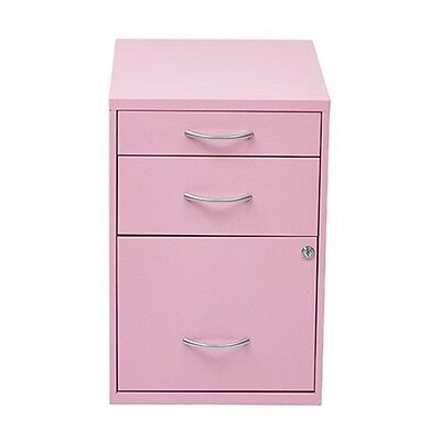 Office Star 22 Pencil/ Box/ Storage File Cabinet (Pink) HPBF261 NEW