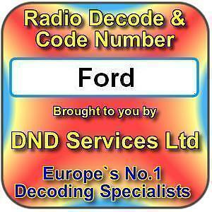 Ford Radio Cassette CD Navigation Code Decode Unlock Service by Serial Number