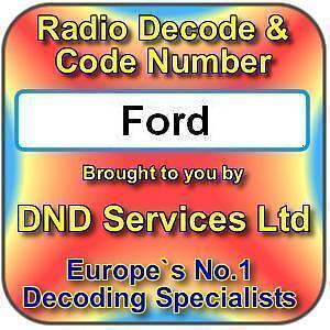 Ford Radio Code Decode Unlock Service by Serial Number
