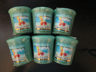 NEW WRAPPED~YANKEE CANDLE~LOT/SET OF 6~VOTIVES~BAHAMA BREEZE~BEACH~SUMMER~SCENT
