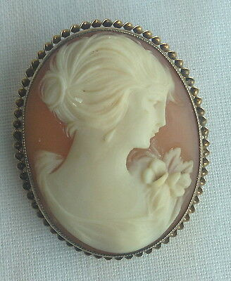 10k Yellow Gold Lady Cameo
