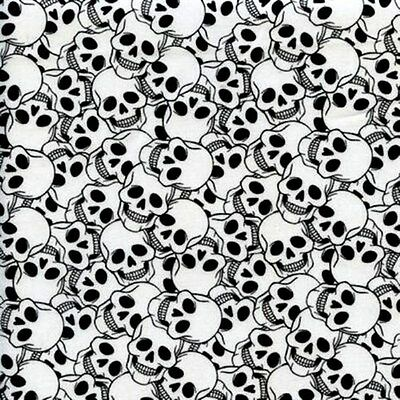 Ghosts and Ghouls Halloween Skeleton Skull Collage Cotton Fabric Fat Quarter