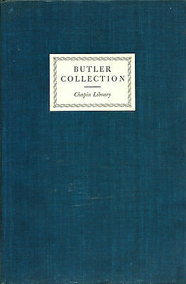 Butler Collection in the Chapin Library a catalogue of art books 1945