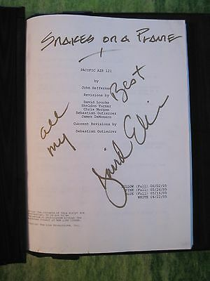 Snakes On A Plane Script - The Director's Own Signed Original Script In Leather