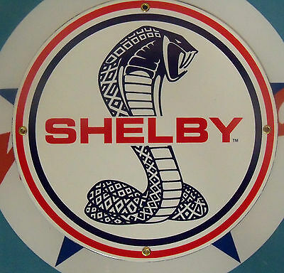 SHELBY COBRA - Porcelain Coated Metal Sign