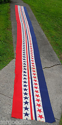 "285"" x 23""  UNUSUAL Old 4th Of July RWB STARS & STRIPES Bunting Banner"