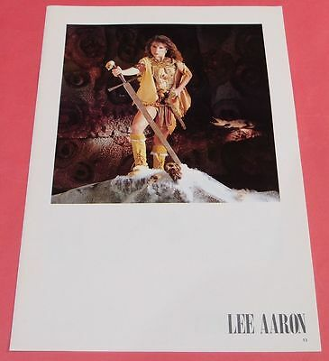 LEE AARON SIOUXSIE SIOUX 1984 SEP CLIPPING JAPAN MAGAZINE VR
