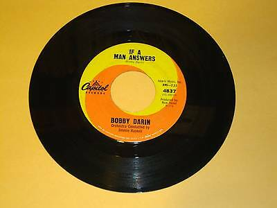 Bobby Darin / A True, True Love / If A Man Answers 45 rpm Record Vintage Vinyl