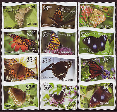 Niuafo'ou  2013 Butterflies  Unmounted Mint Set Of 12
