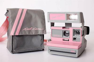 Vtg Pink Polaroid Cool Cam 600 Instant Film Camera w/ Matching Carrying Case