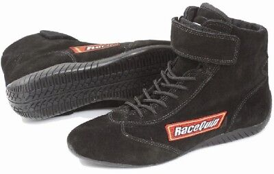 RaceQuip 30300130 Size 13 Mid-Top SFI Rated Racing Driving Shoes Black Suede
