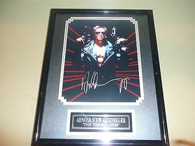 ARNOLD SCHWARZENEGGER SIGNED THE TERMINATOR (1) 10x8 PHOTO  W/COA