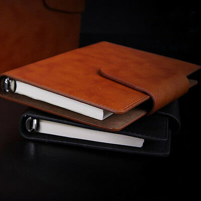 PU Leather Loose-leaf Personal Portable Business Notebook Organiser Filofax New