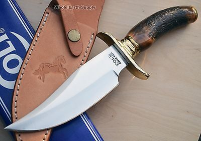 LOT OF 2 Colt Hunting Stag Large Bowie Hunter Knife Handle Antler Fixed Upswept