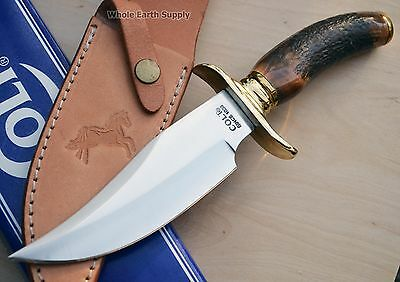 Colt Hunting Stag Large Bowie Hunter Knife Handle Antler Fixed Upswept Knives