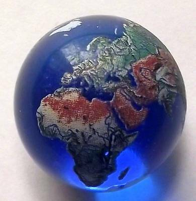 22mm Detailed Solid Glass Earth Globe World in Your Hands Graduation Marble