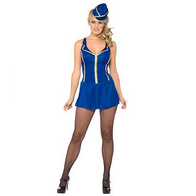 Cabin Crew Fancy Dress Costume Air Stewardess Sexy Outfit One Size