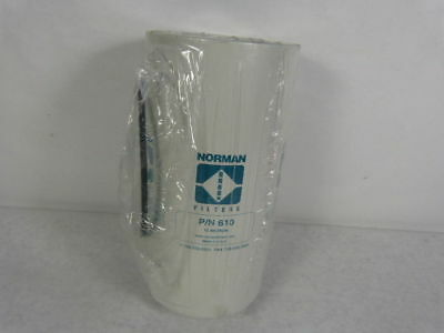 """Norman 610 Hydraulic Filter Element 10.9"""" Length 100 PSID ! NEW !"""