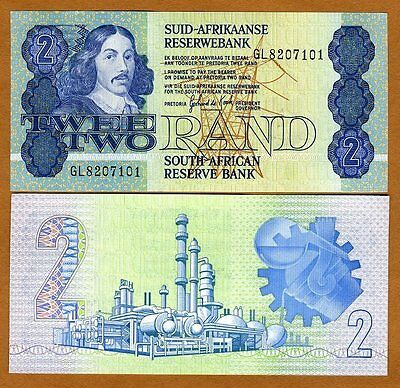 South Africa, 2 rand, ND (1983-1990), Pick 118 (118d), UNC