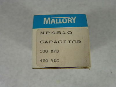 Mallory NP4510 Capacitor 100uf 450V ! NEW !