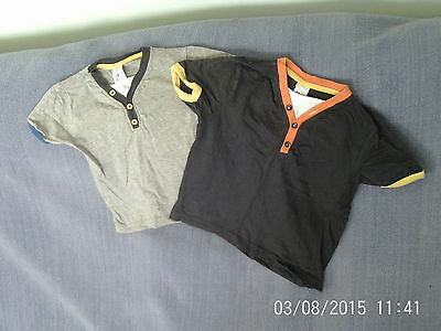 Boys 3-4 Years - Two T-Shirts - Grey with Multi Colours - Urban Rascals