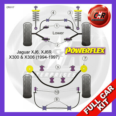 Jaguar XJ6 - X300 & X306 (94-97) Powerflex Complete Bush Kit