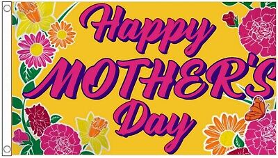 Happy Mothers Day Mothering Sunday Banner 5'x3' Flag !
