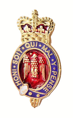 British Army Household Division Blues & Royals Pin Badge - MOD Approved