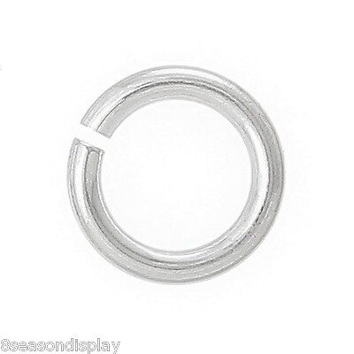 50PCs Sterling Silver Open Jump Rings 5mm