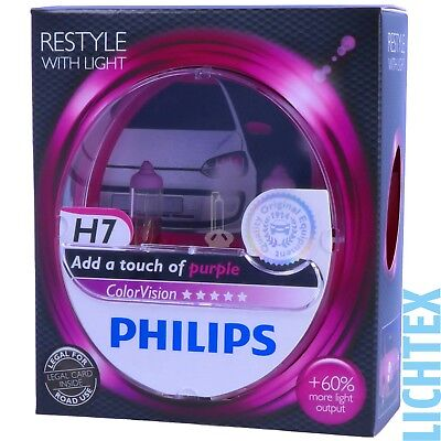 H7 PHILIPS ColorVision PINK - Styling Scheinwerfer Lampe - DUO-Pack-Box NEU