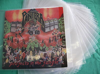 """50 12"""" POLYTHENE VINYL RECORD COVERS LPS Plastic Outer Sleeves (TOP Quality)"""