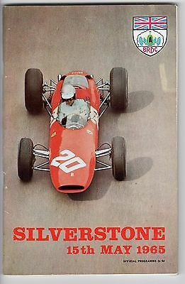 SILVERSTONE 15th MAY 1965 PROGRAMME.