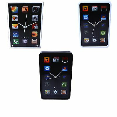 Wall Clock Large Modern Novelty Kitchen Home Smart iPhone Tablet Office