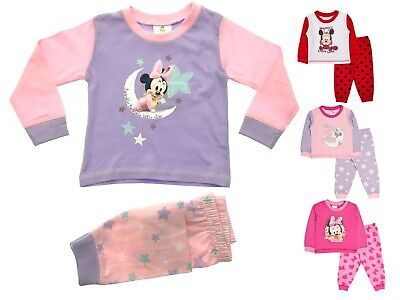Baby Girls Pyjamas Kids Toddlers Disney Minnie Mouse Pjs Set Me To You Size