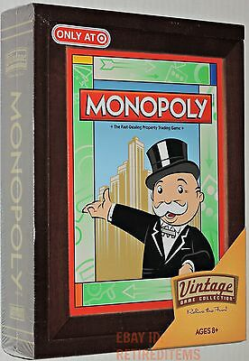New MONOPOLY VINTAGE COLLECTION Library Book Shelf Wood Wooden Box TARGET HASBRO