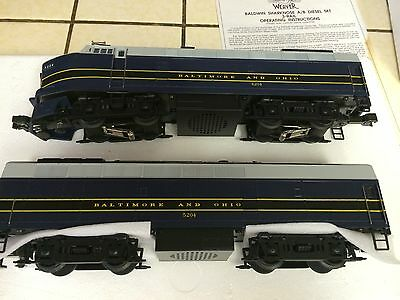 WEAVER TRAIN BALDWIN SHARKNOSE DIESEL A/B BALTIMORE & OHIO 4204
