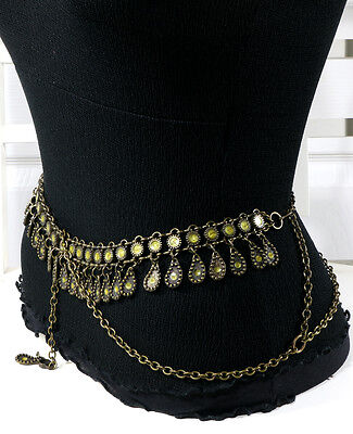 High Quality Italian Brass Belly Dancing Chain Belt  S/M/L -  MADE IN ITALY