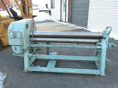 "Lown G500 60"" Power Bending Rolls 10ga Mild Steel Capacity Nice Condition"