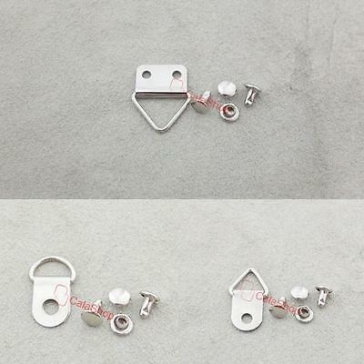 """Triangle D Ring Picture Frame Hanger Screws Strap 10mm 3/8""""15mm 5/8"""""""