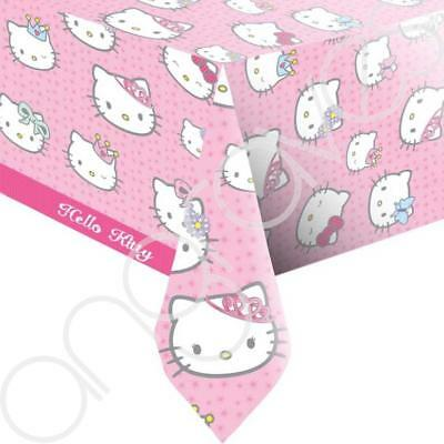 Plastic Pink Hello Kitty Tablecover Table Cloth Cover Picnic Party Event Girls