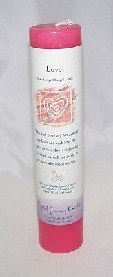 LOVE REIKI charged candle Crystal Journey CANDLE Pillar Herbal MAGIC Manifestion