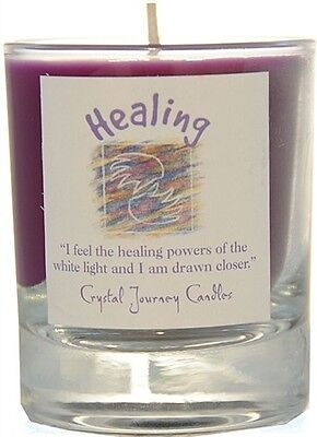 HEALING Reiki Herbal Magic SOY Candle Crystal Journey Candles glass votive Pagan