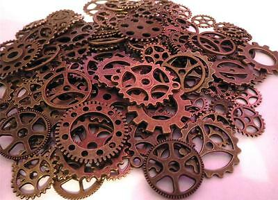 """1"""" to 3/8"""" Gears 20 Pieces VARIETY Lot New Steampunk Watch Parts Clock Wheels"""