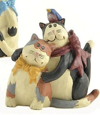 Blossom Bucket -Cats Hug Each Other by Diane Knott